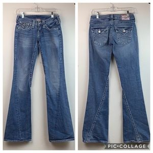 True Religion Disco Joey Big T crystal flare jeans